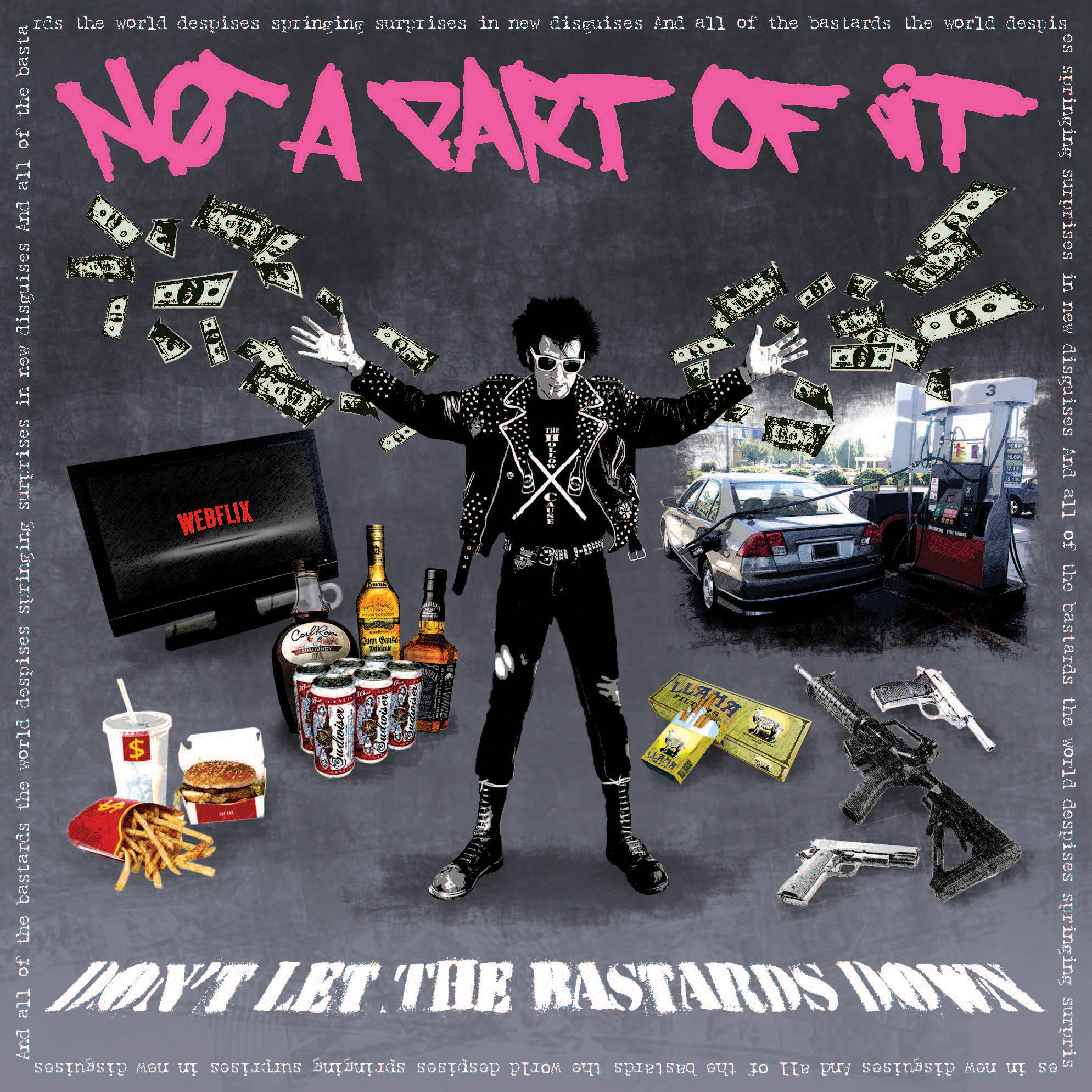 """Don't Let The Bastards Down"" CD Cover."